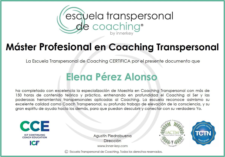 Máster Profesional en Coaching Transpersonal & IE - diploma - Innerkey Coaching